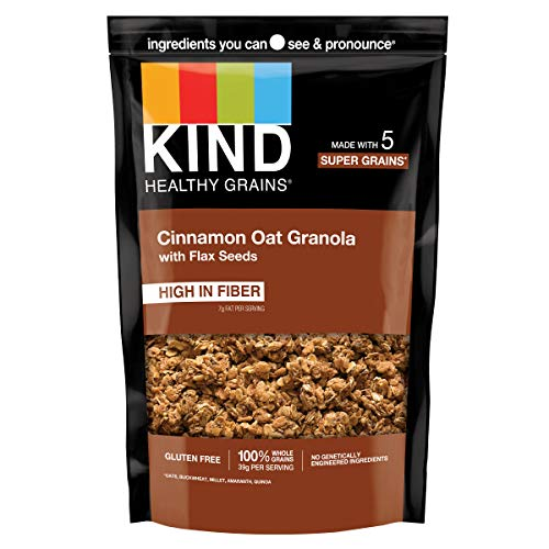 KIND Healthy Grains Clusters, Cinnamon Oat Clusters with Flax Seeds, Gluten Free, Non GMO, 11 Ounce Bag