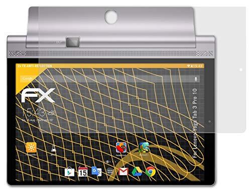 atFolix Panzerfolie kompatibel mit Lenovo Yoga Tab 3 Pro 10 Schutzfolie, entspiegelnde & stoßdämpfende FX Folie (2X)