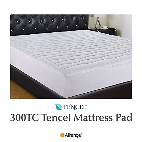 Allrange 300TC Cool Tencel Clean&Safe Quilted Mattress Pad, Stretch-up-to 22