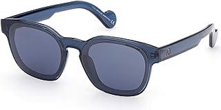 Sunglasses Moncler ML 0086 90X Shiny Transparent Blue/Smoke Lenses