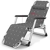 FLZXSQC Sillón reclinable plegable para la playa, jardín, camping, pesca, ajustable, reposacabezas desmontable, reclinable, soporta 400 kg