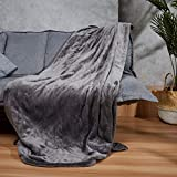WOOMER [New] Queen Size 84'x 90' Electric Heated Throw Blanket, Dual Controllers, 10 Heat Levels & 0.5-12H Auto Off, Fast Heating, Over-Heat Protect, Machine Washable, 100% Soft Velvet, ETL Verified