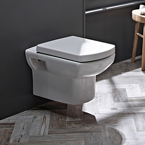 Tavistock Vibe - Inodoro de pared con asiento de cierre suave