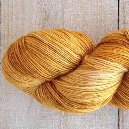 theofeel Manos del Uruguay Silk Blend Fino 424 Gilt, Lacegarn Wolle mit Seide zum Stricken und Häkeln, handgefärbt mit Farbverlauf, 100g Strang
