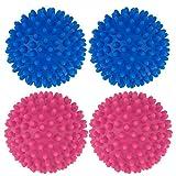 Dryer Balls, 4 PCS Reusable Tumble Dryer Balls, Washing Laundry Softener for Washing