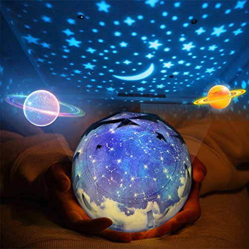 Star Night Light for Kids Universe Night Light Projection Lamp Romantic Star Sea Birthday New Projector lamp for Bedroom - 3 Sets of Film