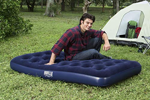 Bestway 67001 - Colchón Hinchable Flocked Airbed (Twin) 188x99x22 cm