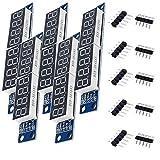AZDelivery 5 x MAX7219 Modulo LED Modulo 8 Bit 7 segmenti a LED Display per Arduino con eBook