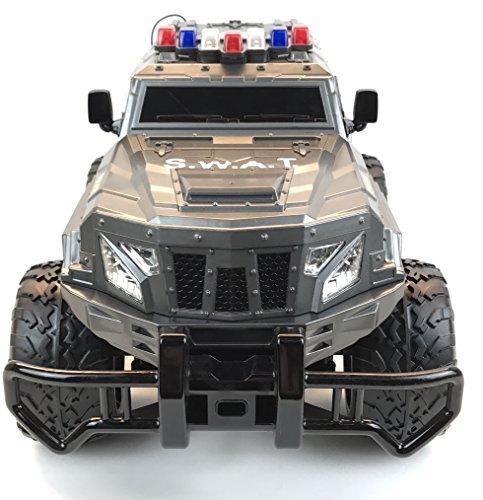 RC Auto kaufen Monstertruck Bild 5: BUSDUGA - 2486 RC Monstertruck Polizei SWAT, 1:12 , RTR, inkl. 13 LED Lichter , Signallichter mit 4 Intervallen*