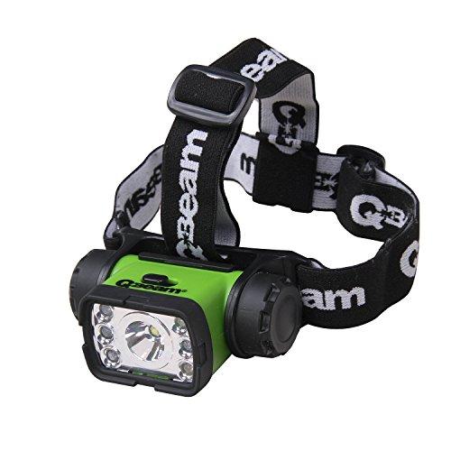 Brinkmann Qbeam 7 LED Headlight, 4 Modes Spot/Flood/Red/Green headlight flashlights Hard Hat Light, Bright Head Lights, Running or Camping headlamps 809-2631-1