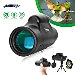 Aomekie Spotting Scope Zoom HD BAK4 Porro Prism Waterproof Monocular Telescope with Phone Adapter Mount Tripod and Case 45 Degree Angled Eyepiece Scope for Birdwatching Target Shooting Archery Outdoor Activities