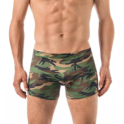 Xuba Herren Shorts/Badehose Viskose Camouflage (L)
