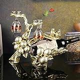 Titulaire de vin Décoration Création Cadeaux Business Cadeaux Résine Crafts de style européen Décoration de la maison Ornements Blueberry Twigs Wine Rack Wholesale