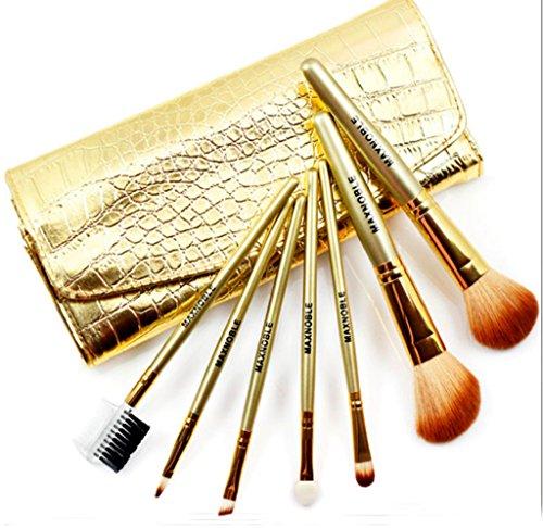 Cexin blonde professionel 7 pinceaux de maquillage exquis avec trousse