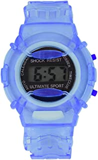 RONSHIN Gifts for Children Student LCD Digital Watch Year Month Date 24 Hour Display Sports Wristwatch Boy Girl Gift Blue