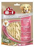 8in1 Delights Bâtonnets de porc torsadés, collation santé pour chien, 35 pièces (190 g...