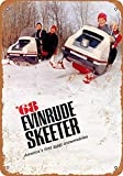FQDIQI 12in x 16in Metal Sign - 1968 Evinrude Skeeter Snowmobiles - Vintage Look for Home Bar Coffee Shop,Also As A Gift