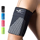 HiRui Universal Comfort Sports Armband Cell Phone Armband Running Armband for Exercise Workout, Compatible with iPhone 12/12Pro/Mini iPhone 11/11Pro Samsung Galaxy All Phones (Large, Black)