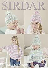 Sirdar Baby & Girls Hat & Poncho Baby Crofter Knitting Pattern 4674 DK