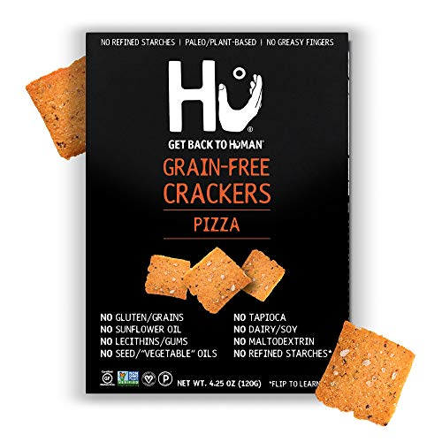 Hu Paleo Vegan Crackers | Pizza 2 Pack | Keto Friendly, Gluten Free, Grain Free, Low Carb, No Added Oils, No Refined Starches