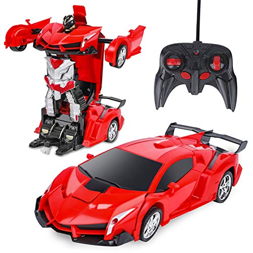 Rc Cars,Transform Car Robot,Remote Control Car Transforming Robot Toy for Kids Boys Girls Gifts -...