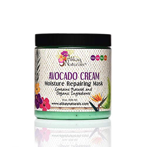 Alikay Naturals Avocado Cream Moisture Repairing Hair Mask, 8 Ounce