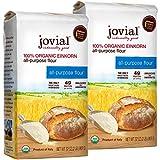 Jovial Einkorn Baking Flour | 100% Organic Einkorn All Purpose Flour | High Protein | Non-GMO | USDA Certified Organic | Delicious Taste | Product of Italy | 32 oz (2 Pack)