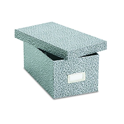 Oxford 40589 Reinforced Board Card File, Lift-Off Cover, Holds 1,200 4 x 6 Cards, Black/White