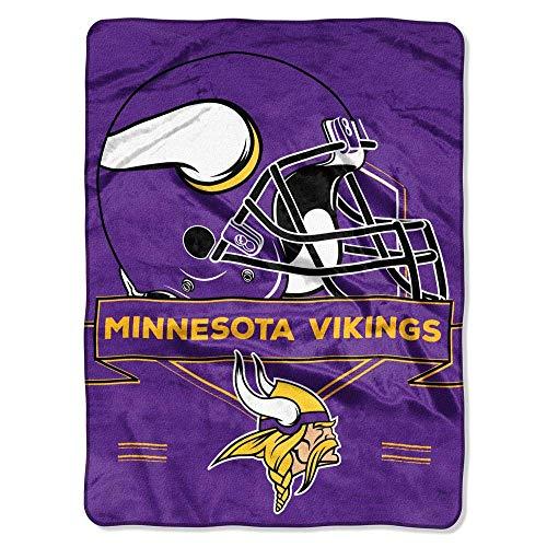 The Northwest Company Officially Licensed NFL Minnesota Vikings Prestige Plush Raschel Throw Blanket, 60' x 80', Multi Color