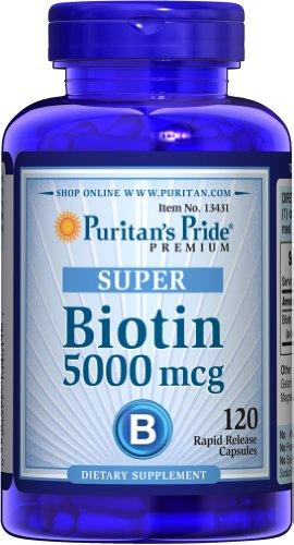 Puritan's Pride Biotin 5000 mg 120 Capsules 13431