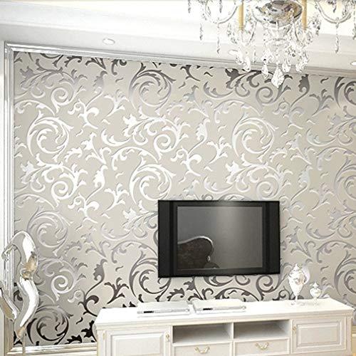 Wallpaper Rolls,Modern Minimalist Non-Woven Wallpaper Embossed Wallpaper...