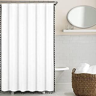 Tassel Shower Curtain, Black