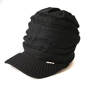 CHARM ニット キャスケット [フリーサイズ/ブラック/つば付き] ニット帽/帽子/サマーニット帽/夏/メンズ/レディース