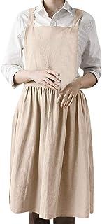 riou mujer, Vestidos Elegantes Mujer Señoras Color sólido imitación Lino Delantal Estudiante Joven niña Viento Casual Dress Playa Camiseta Tops Primavera Vestidos Fiesta Coctel Mujeres riou