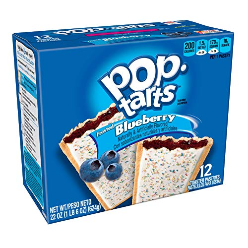 Pop-Tarts Breakfast Toaster Pastries, Frosted Blueberry Flavored, 22 oz (12 Count)