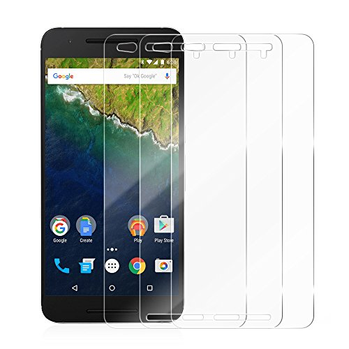 [3 Pack] Nexus 6P Screen Protector, Ace Teah 0.3mm Tempered Glass Google Nexus 6P Screen Protector Cover Film Ultra Clear HD for Google Nexus 6P with 2.5D Rounded Edge (Easy-to-Install)