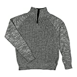 Jones New York Little Boys Quarter Zip Pullover Sweater Grey 7