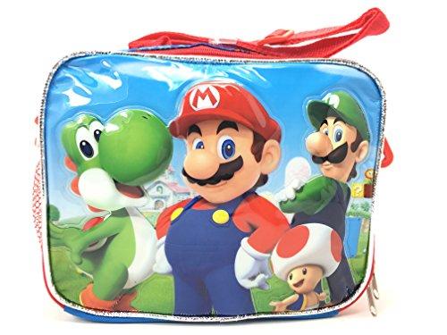 New Super Mario 3D Bros Insulated Lunch Box Bag Licensed Nintendo Luigi New Authentic