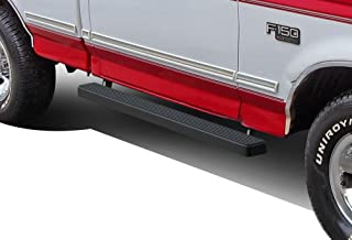 APS iBoard Running Boards (Nerf Bars Side Steps) Compatible with 1980-1996 Ford F-Series Bronco Regular Cab Pickup 2Dr (Will Not Fit Factory Reinforced Heavy Duty Frames) (Black Powder Coated 4in)