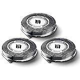 Kapokilly Razor Head Serie 3000,Universal Cabezales De Afeitado Cabezales de Afeitado para Philips Serie 3000 Cuchillas De Afeitar De Malla De Cuchillas Shaver para Philips 3000 Series 3 Piezas