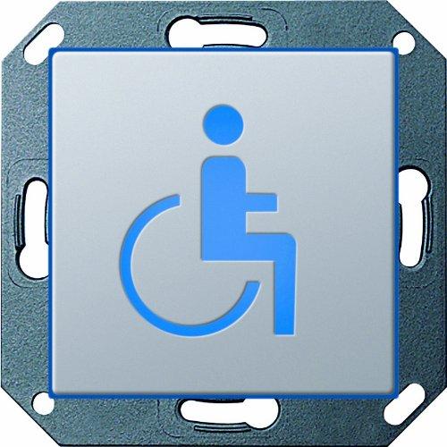 Gira E22, 2794203 oriëntatielamp LED WC gehandicapten, aluminium