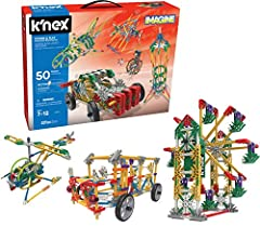529 ASSORTED PIECES – The K'NEX Power and Play Motorized Building Set contains 529 parts, including different sizes of connectors, rods, and wheels. These can be clicked together easily for a myriad of 3D configurations. MOTOR INCLUDED – The K'NEX Po...