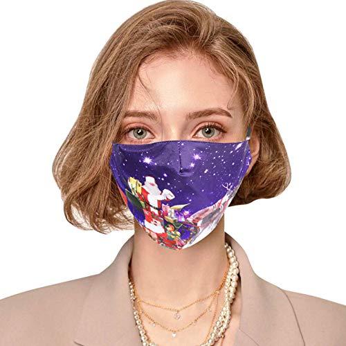 Wokee Adulto protección Bucal con Filtro De Pcs Escudo Facial Bufanda Multifuncional Bufanda Lavable y Reutilizable Bandana Bufanda Respirable Ajustable (D)