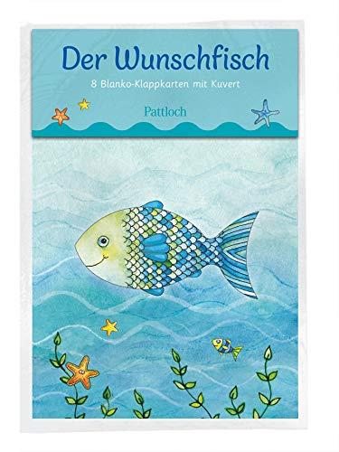 Der Wunschfisch: 8 Blanko-Klappkarten mit Kuvert