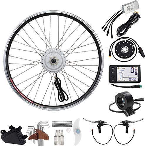 YOSE POWER E-Bike Conversion Kit Front Wheel 36V250W24'' Elektrofahrräder Umbausatz Vorderrad 24 Zoll mit LCD Display