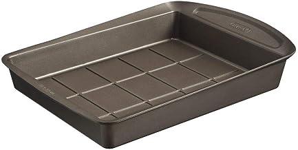 Pyrex Asimetria Non-Stick Brownie Pan, Brown, 24.5 x 25.5 x 11cm