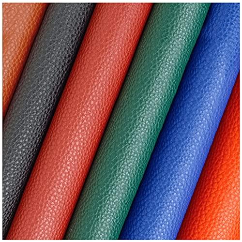 NIUFHW Pu in Pelle Pu 1.38 M * 1m Impermeabile in Pelle Artificiale può Rendere Orecchini Accessori per Capelli Portafogli Cuscini Fai da Te Artigianato(Color:Nero)