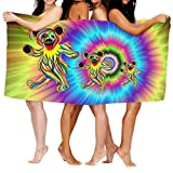 Grate-Ful Dead Bear Over-Sized Cotton Beach Bath Towels