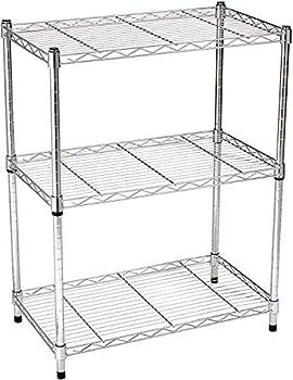 Amazon Basics 3-Shelf Adjustable Steel Organizer Wire Rack