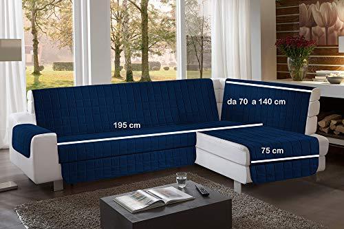 la biancheria di casa Simplicity Plus Angle Copri Salva Divano per divani ad Angolo (195 cm, Blue Navy)